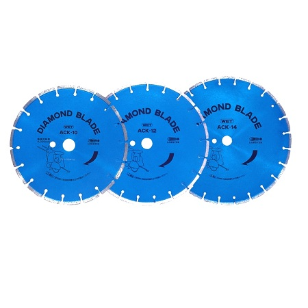 Diamond blade ACK for civil engineering work (Wet process, For both asphalt and concrete)