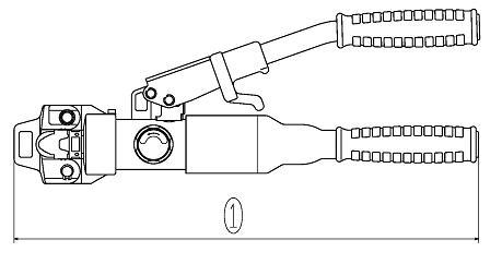 Hydraulic crimping tool  AKH150S