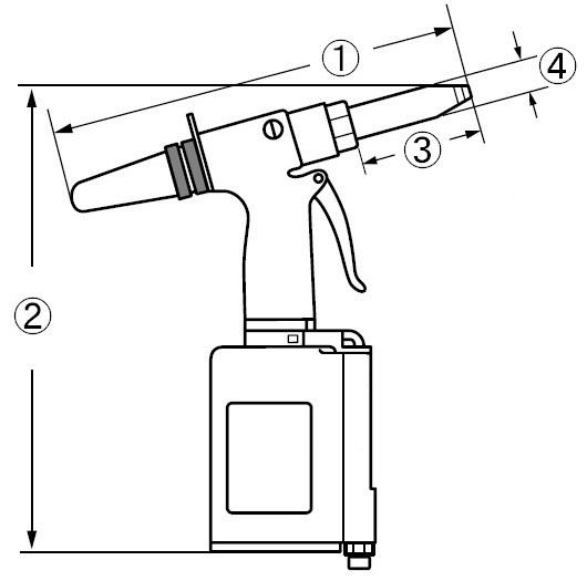 Air riveter loại tiêu chuẩn AR011S (M) (H)