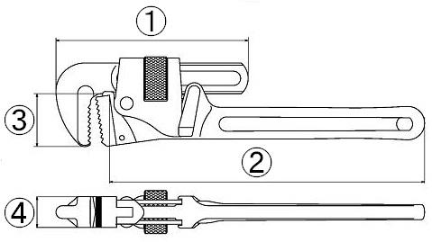 Aluminum pipe wrench  APW